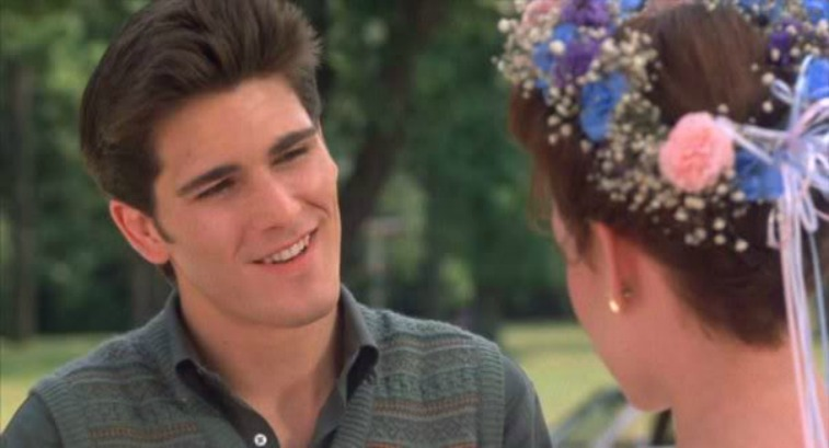 Jake looks at Samantha in Sixteen Candles.