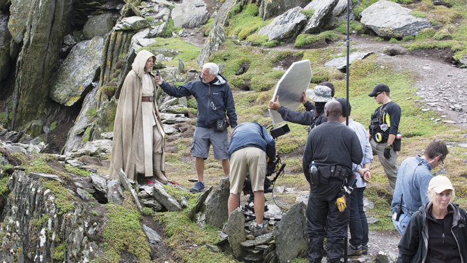 Star Wars Episode VIII - Mark Hamill / Luke Skywalker set photos