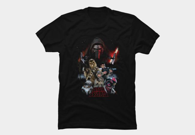 Star Wars characters shirt