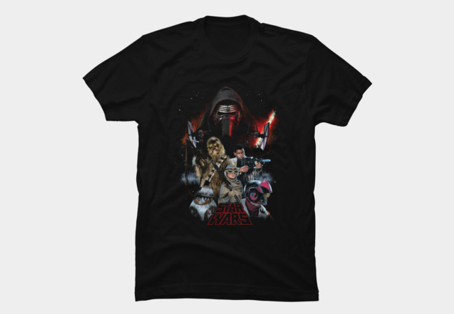 Star Wars characters shirt