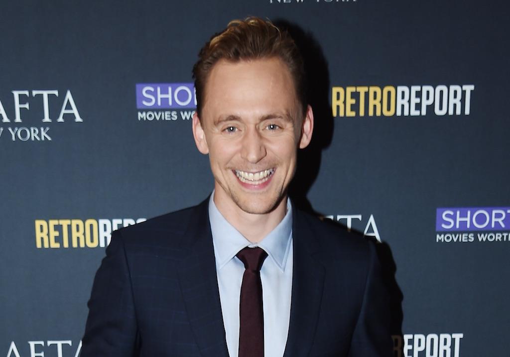 Tom Hiddleston smiles