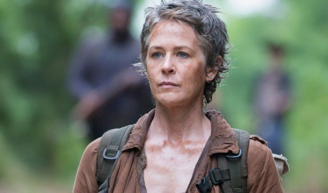 Carol Peletier (Melissa McBride) looks stoic in a scene from 'The Walking Dead'