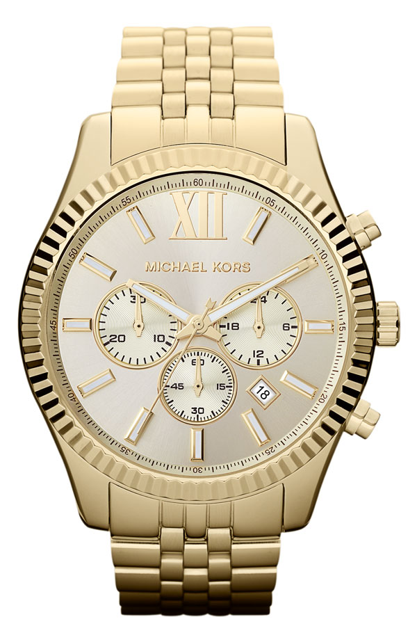 Michael Kors 'Large Lexington' Chronograph Bracelet Watch
