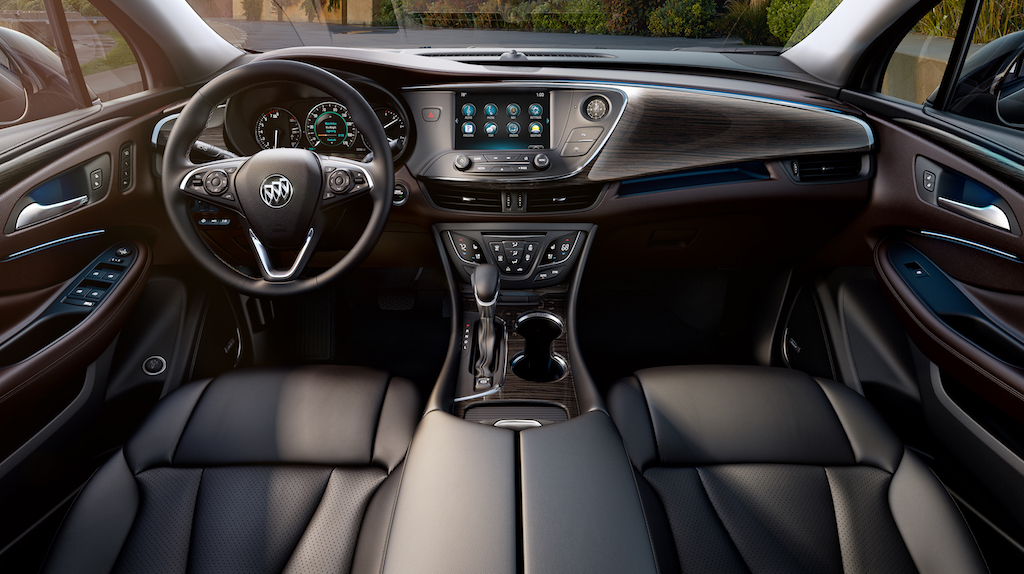 The dashboard of the Buick Envision