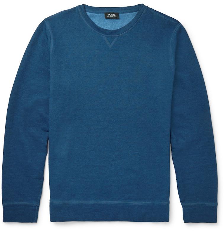 A.P.C. indigo sweatshirt