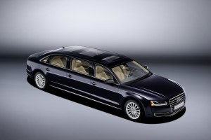 Audi Rolls Out 21-Foot, 6-Door A8 L Extended