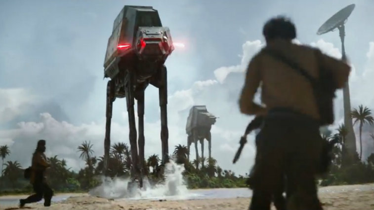 AT-AT walkers in Rogue One: A Star Wars Story