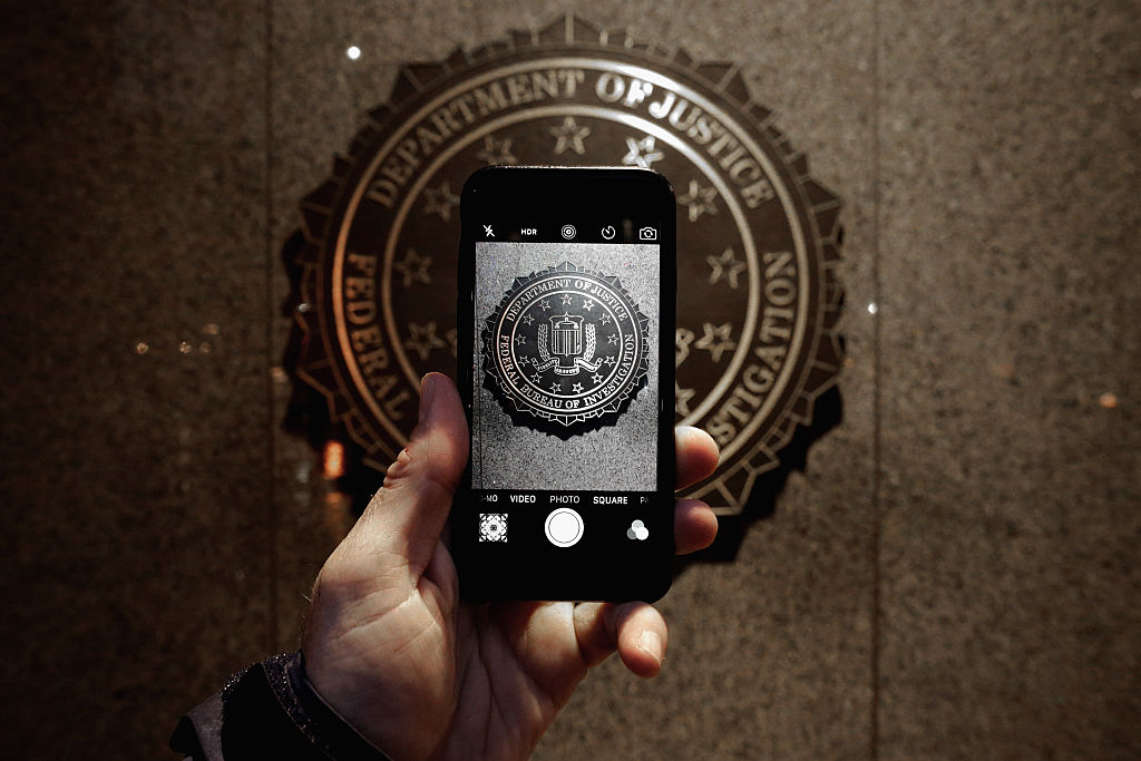FBI seal on a Apple iPhone
