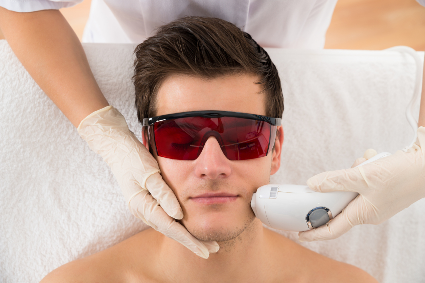 Guy getting Laser Epilation Treatment