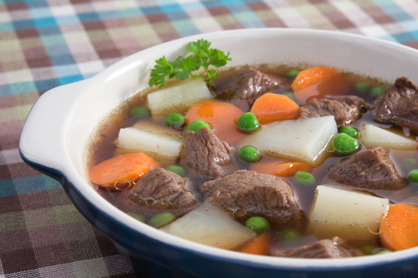 Beef and vegetable soup