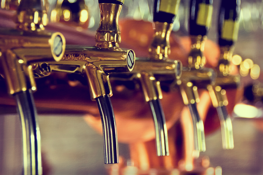 beer taps in a row