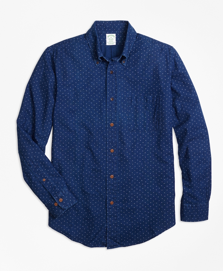 12 indigo pieces to upgrade your summer wardrobe for Brooks brothers sports shirts