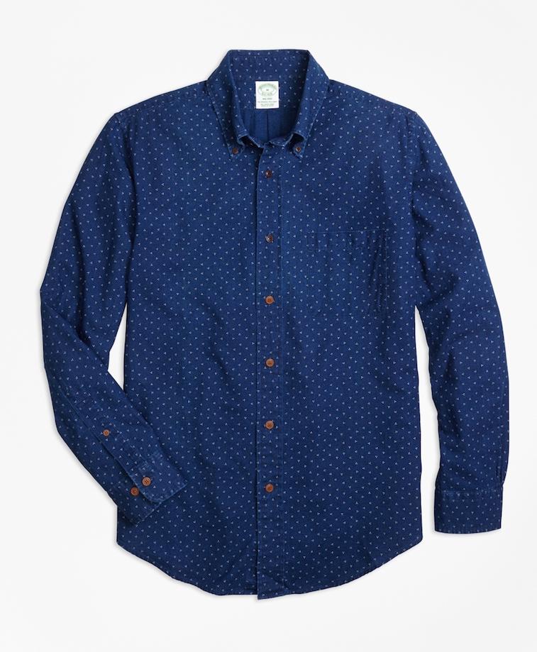 Brooks Brothers indigo sport shirt