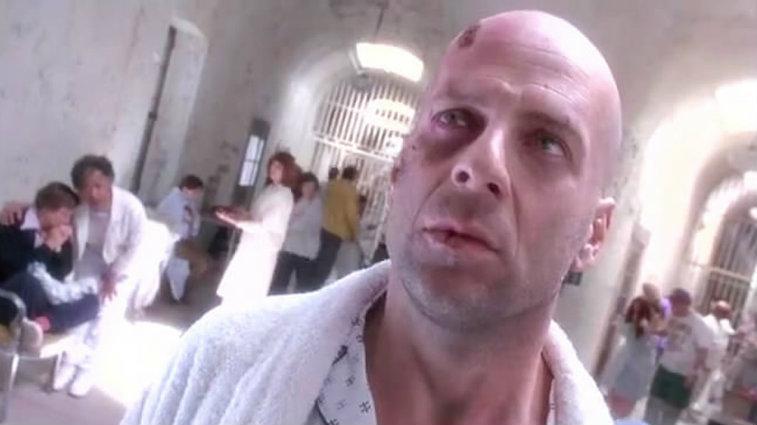 Bruce Willis in Twelve Monkeys