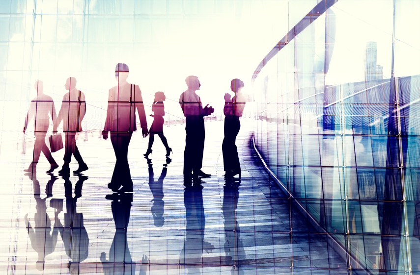 concept of business people walking