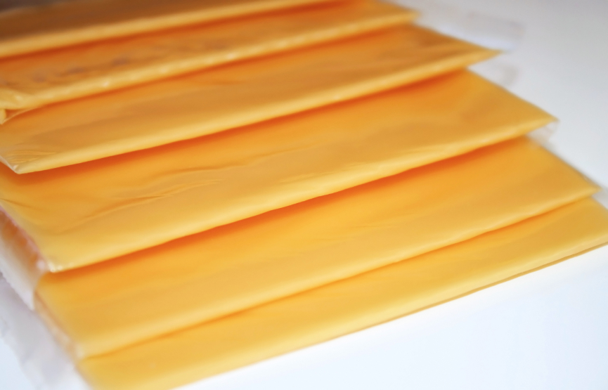 Close up of Cheese Slices