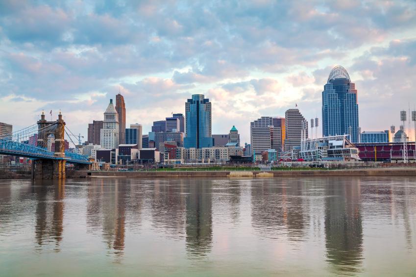 view of Cincinnati downtown