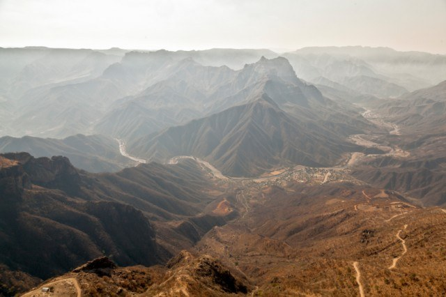 view of mountains in copper canyon