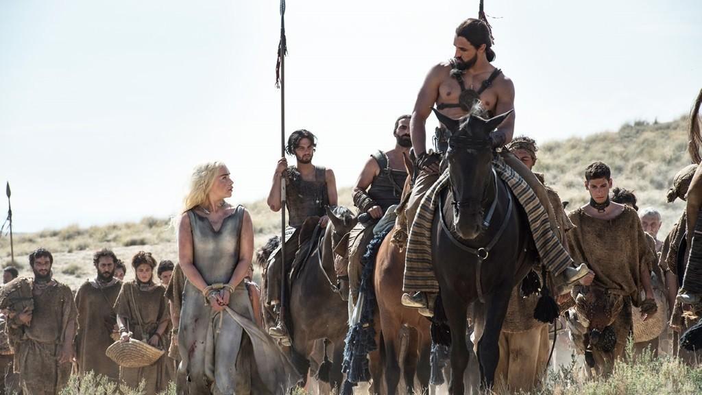 Daenerys with Dothraki - Game of Thrones