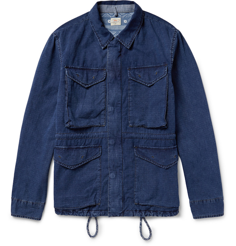 Faherty indigo-dyed field jacket