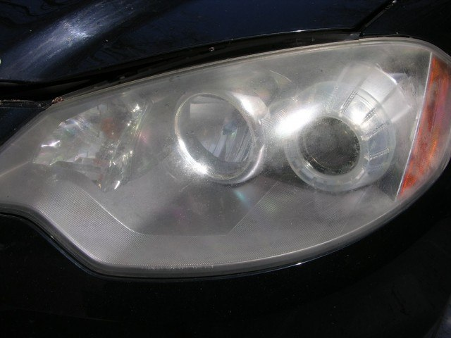 Hazed headlights
