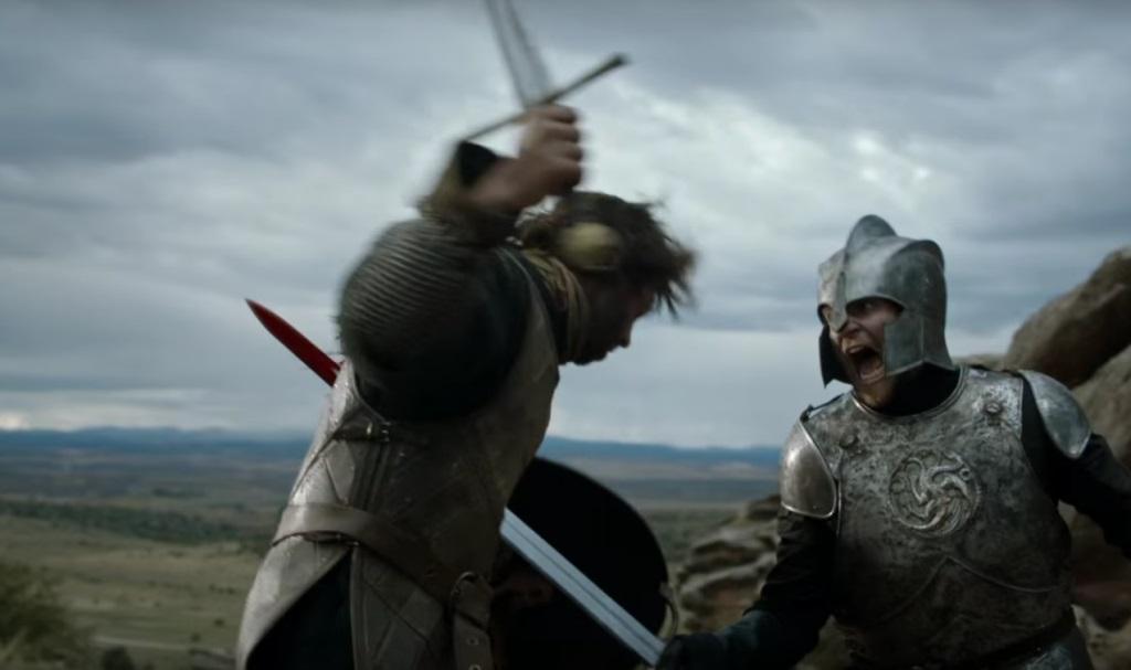 Battle scene in Game of Thrones