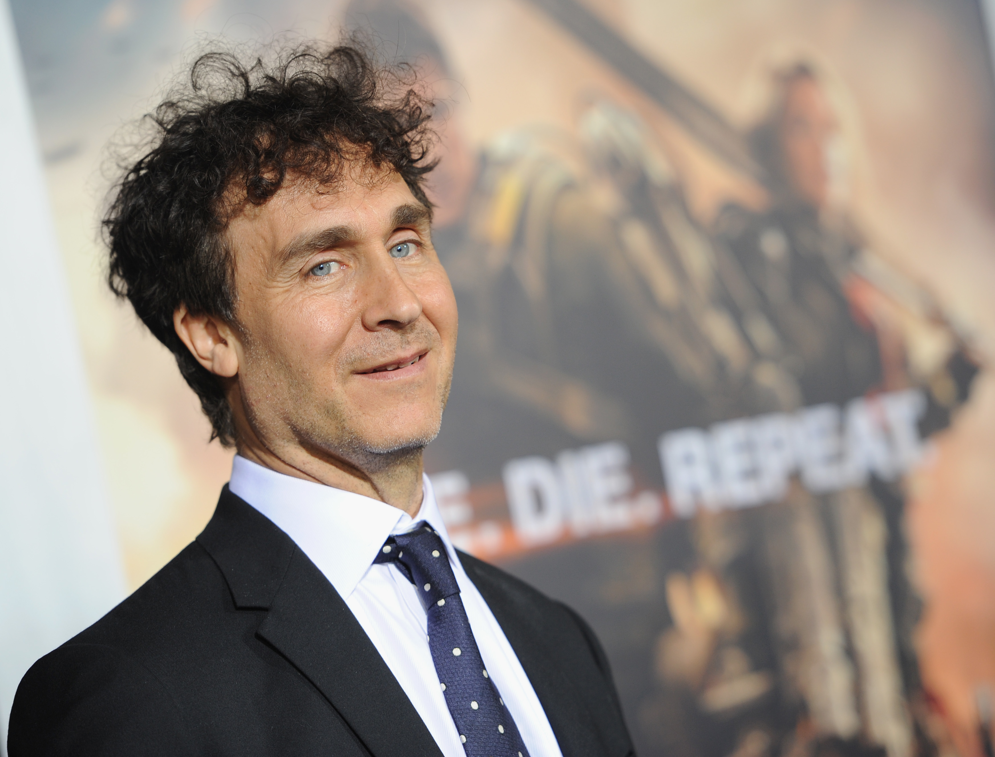 "Doug Liman poses on the carpet of the ""Edge Of Tomorrow"" New York Premiere"