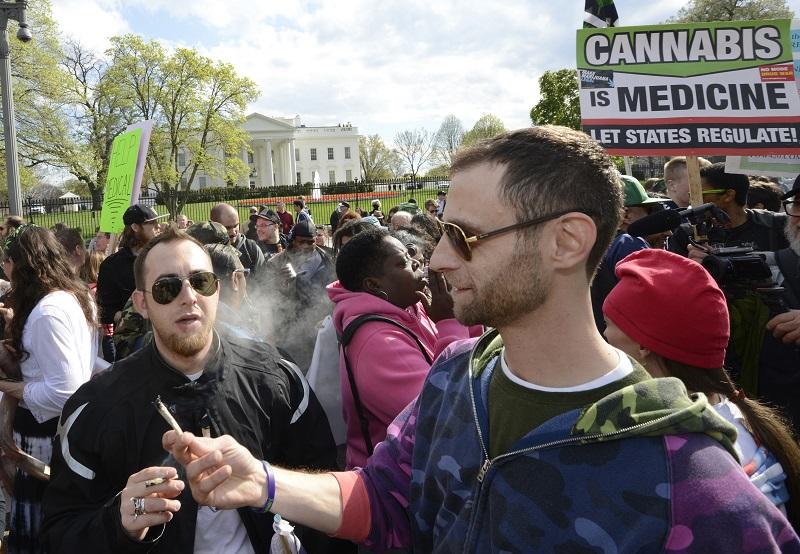 Marijuana legalization advocates in Washington D.C.
