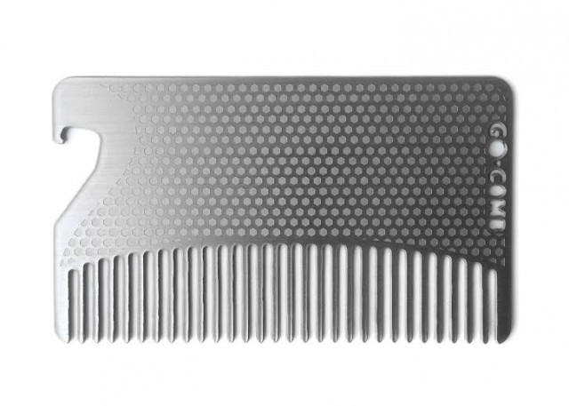 Stainless Steel Fine Tooth Bottle Opener Go-Comb