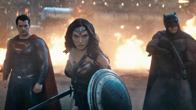 Henry Cavill, Gal Gadot, and Ben Affleck in Batman v Superman: Dawn of Justice