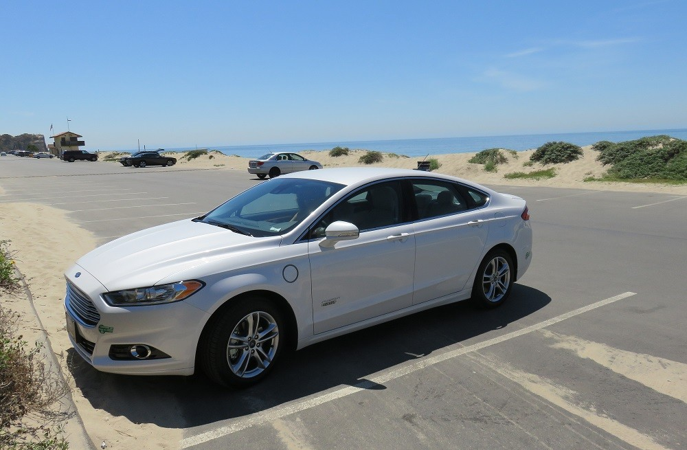 Ford Fusion Energi takes some sun at Point Dume