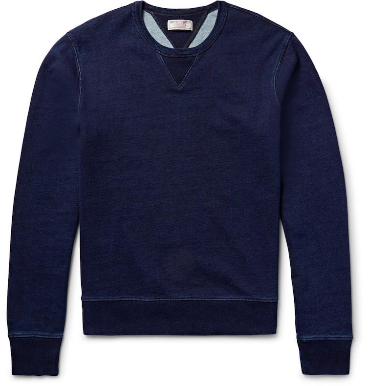 J.Crew indigo sweatshirt