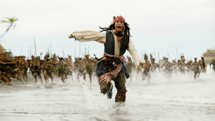 Johnny Depp in Pirates of the Caribbean Dead Man's Chest