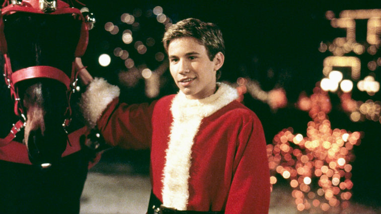 Jonathan Taylor Thomas in I'll Be Home for Christmas is in a Santa suit