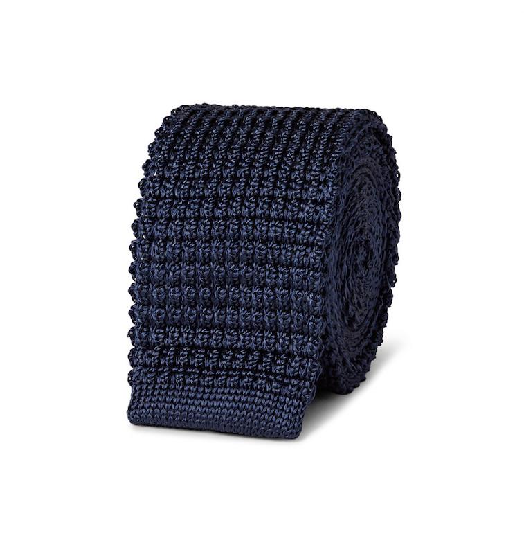 A knit tie