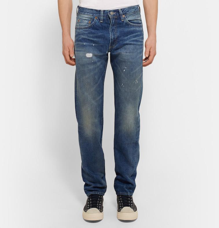 Levi's Vintage washed selvedge 501 jeans from Mr. Porter