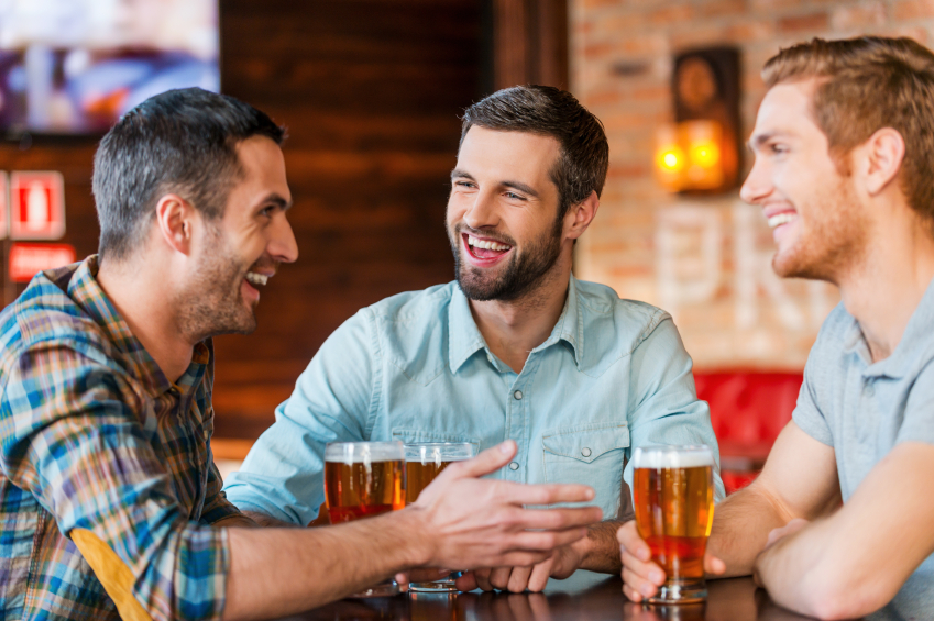 friends drinking beer together