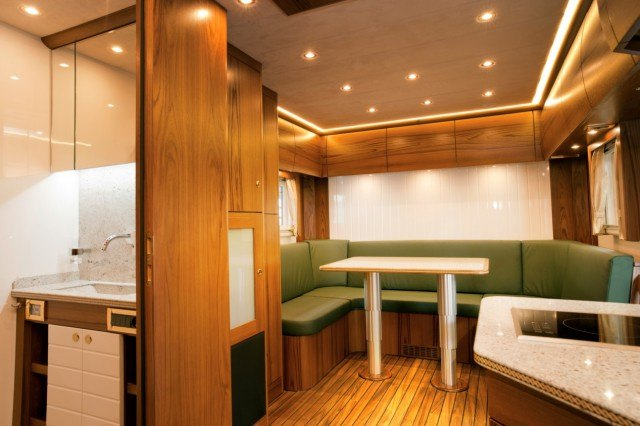 First class cabin space