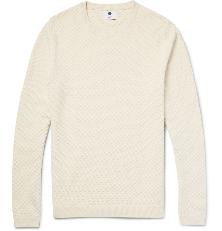 NN07 cotton basketweave sweater at Mr. Porter
