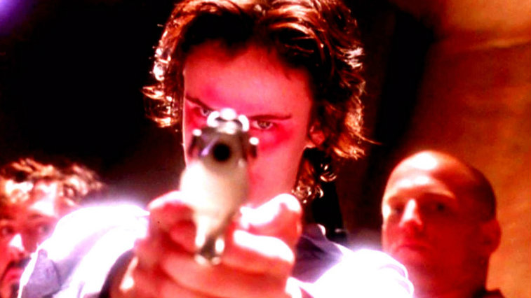 Robert Downey Jr., Juliette Lewis and Woody Harrelson in Natural Born Killers