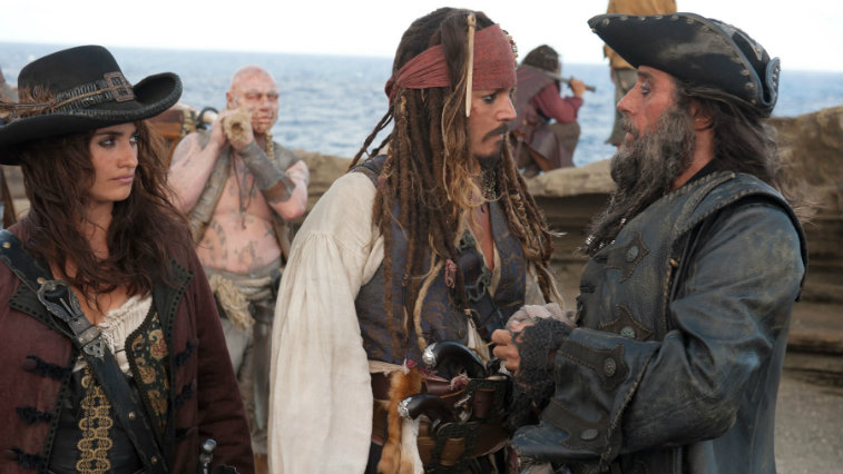 Penelope Cruz, Johnny Depp and Ian McShane in Pirates of the Caribbean On Stranger Tides
