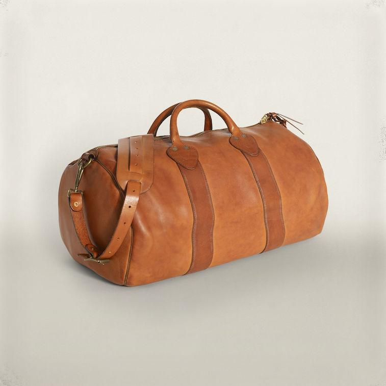 RRL leather duffel