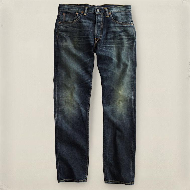 RRL low straight selvedge jeans at Ralph Lauren