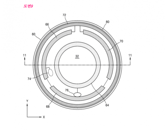 Samsung smart contact lens patent
