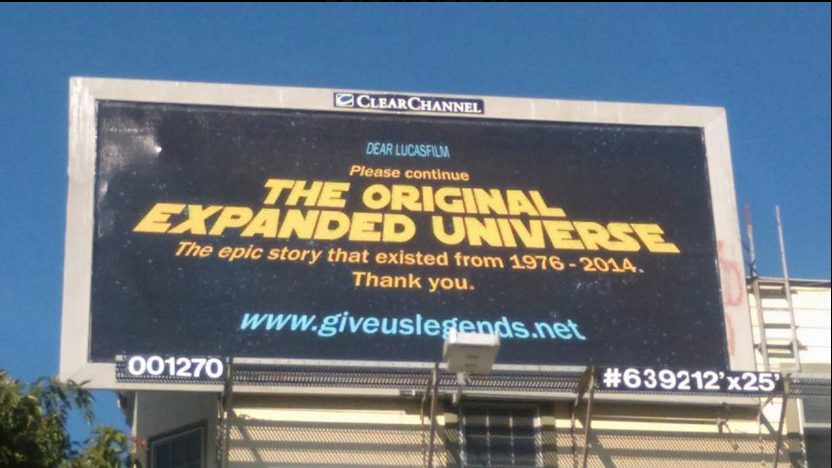 Star Wars Expanded Universe Billboard