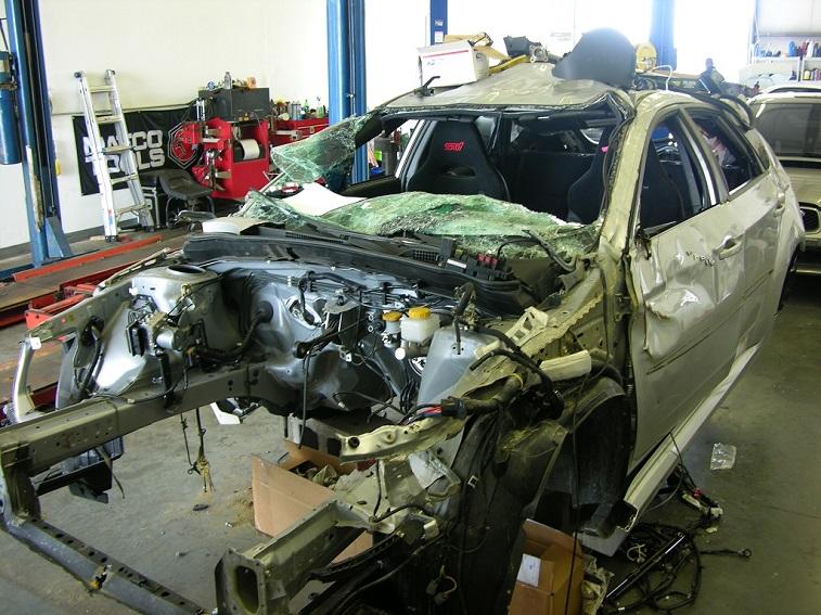A wrecked STI
