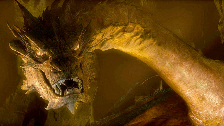 Smaug in The Hobbit: The Desolation of Smaug