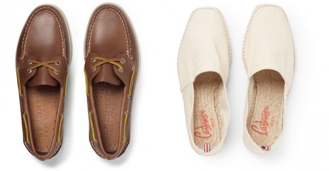 Sperry boat shoes and Castañer espadrilles from Mr. Porter