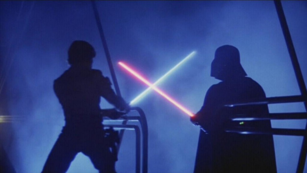 Luke and Darth Vader