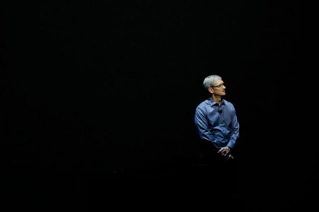 Tim Cook during a presentation